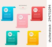 business infographic template... | Shutterstock .eps vector #294751094