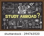 doodles about study abroad on... | Shutterstock .eps vector #294763520