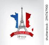 14 july. happy bastille day  | Shutterstock .eps vector #294767900