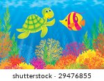 coral fish and turtle | Shutterstock . vector #29476855
