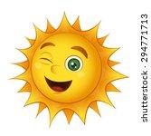 vector smiling sun isolated on... | Shutterstock .eps vector #294771713