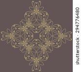 damask vector floral pattern... | Shutterstock .eps vector #294776480