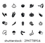 vegetables set of vector black... | Shutterstock .eps vector #294778916
