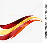 red orange bright feather lines ...   Shutterstock . vector #294780200