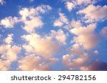 blue sky and clouds at sunset | Shutterstock . vector #294782156