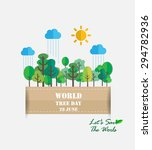 world tree day   green concept  ... | Shutterstock .eps vector #294782936