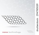 abstract nano structure vector... | Shutterstock .eps vector #294785039