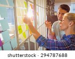 young creative business people... | Shutterstock . vector #294787688