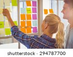 young creative business people... | Shutterstock . vector #294787700