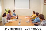 attentive business team... | Shutterstock . vector #294788093