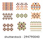 cute collection of ethnic... | Shutterstock .eps vector #294790040
