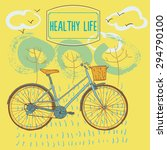 healthy life illustration ... | Shutterstock .eps vector #294790100