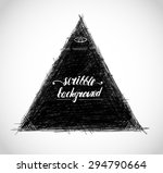 scribble triangle background... | Shutterstock .eps vector #294790664