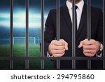 elegant businessman in suit... | Shutterstock . vector #294795860