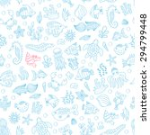 vector seamless pattern with... | Shutterstock .eps vector #294799448
