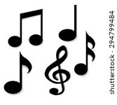 a collection of vector musical... | Shutterstock .eps vector #294799484