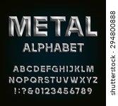 metal beveled alphabet. letters ... | Shutterstock .eps vector #294800888