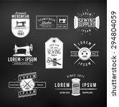 set of vintage tailor labels ... | Shutterstock .eps vector #294804059