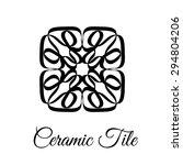 square vintage floral...   Shutterstock .eps vector #294804206
