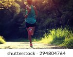 runner athlete running on... | Shutterstock . vector #294804764