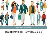 a group of modern people.  set... | Shutterstock .eps vector #294813986
