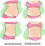 fat belly before and after... | Shutterstock .eps vector #294814520