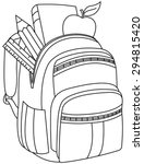 Outlined School Backpack....