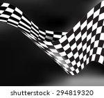checkered race flag waveing... | Shutterstock .eps vector #294819320