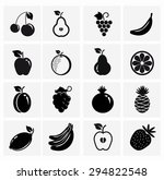fruit icon collection   vector... | Shutterstock .eps vector #294822548
