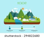3d view of a energy industry on ... | Shutterstock .eps vector #294822680