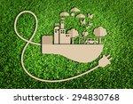 energy saving concept. paper... | Shutterstock . vector #294830768