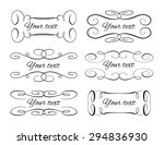 set of elegant flourishes for... | Shutterstock .eps vector #294836930