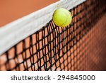 the ball hits the net and... | Shutterstock . vector #294845000