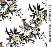 watercolor seamless pattern... | Shutterstock . vector #294846143