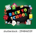 back to school  vector... | Shutterstock .eps vector #294846539