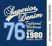 superior denim print logo  work ...   Shutterstock .eps vector #294848030