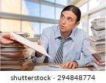 emotional stress  paperwork ... | Shutterstock . vector #294848774