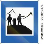 an icelandic service road sign  ... | Shutterstock . vector #294849578