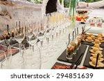 buffet table close up.... | Shutterstock . vector #294851639