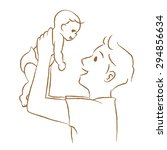 "daddy to lift the baby. ""line... 