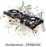 illustration of a dj turntable | Shutterstock .eps vector #29486104