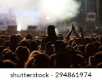 crowd at concert and blurred... | Shutterstock . vector #294861974