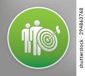 dart design icon on green...