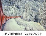 Red Train Of Bernina Swiss...