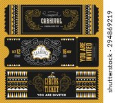 vintage circus banner...   Shutterstock .eps vector #294869219
