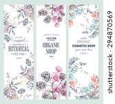 floral banner collection.... | Shutterstock .eps vector #294870569