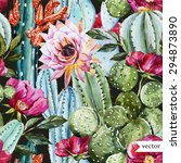 watercolor vector pattern with... | Shutterstock .eps vector #294873890