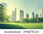 park in lujiazui financial... | Shutterstock . vector #294875114