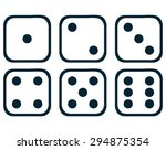 Dice Set  Vector Illustration.