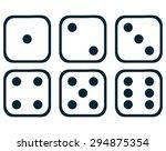 Dice Set  Vector Illustration.